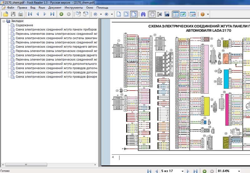 Схема приборной панели приора